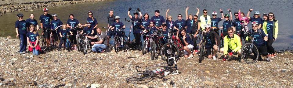 The Weardale Practice complete their charity ride in Tynemouth