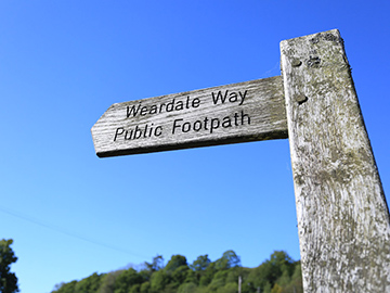 Weardale Way Footpath Sign